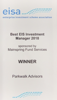 Parkwalk wins 'Best EIS Fund Manager' at the EIS Association Awards