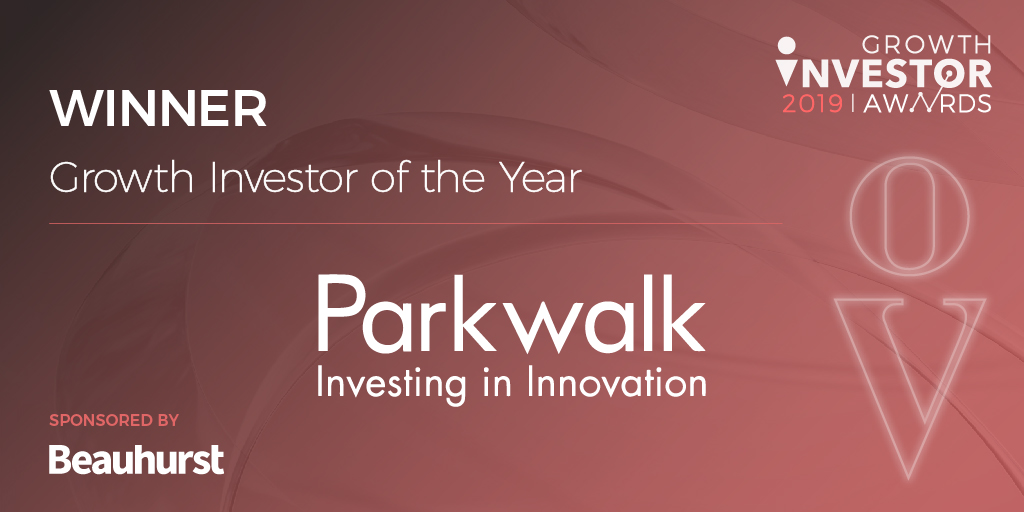 Parkwalk – 'Growth Investor of the Year' & 'Exit of the Year' at the Growth Investor Awards