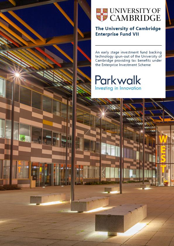 Parkwalk – University of Cambridge Enterprise Fund VII launch
