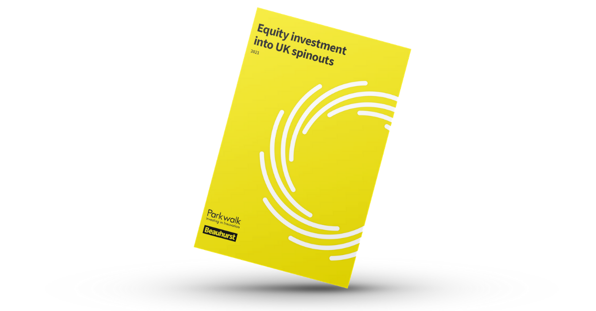 Parkwalk – 2021 Beauhurst report on investment in university spinouts