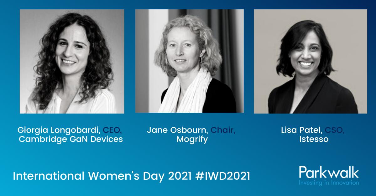 Parkwalk – International Women's Day 2021 interviews with portfolio leaders